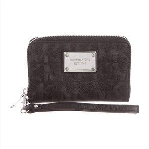 Michael Michael Kors Monogram Wristlet Wallet